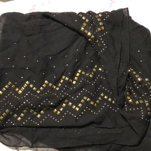 Express Accessories - Black & gold stud infinity scarf